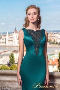 Вечернее платье 7038. Цвет зеленый. Вид 3