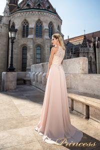 Вечернее платье 7039. Цвет бежевый. Вид 2