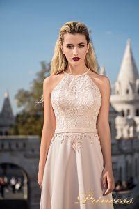 Вечернее платье 7039. Цвет бежевый. Вид 3