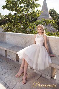 Вечернее платье 8042. Цвет пастельный. Вид 2