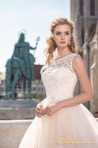 Вечернее платье 8042. Цвет пастельный. Вид 3