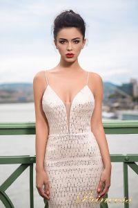Вечернее платье 7043. Цвет бежевый. Вид 3