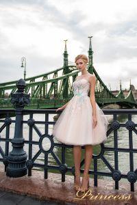 Вечернее платье 7045. Цвет бежевый. Вид 1