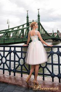 Вечернее платье 7045. Цвет бежевый. Вид 2