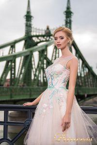 Вечернее платье 7045. Цвет бежевый. Вид 3