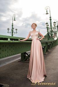 Вечернее платье 7046. Цвет пудра. Вид 2