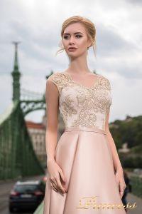 Вечернее платье 7046. Цвет пудра. Вид 3