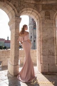 Вечернее платье 7047. Цвет пудра. Вид 2