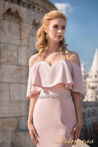 Вечернее платье 7047. Цвет пудра. Вид 3