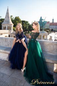 Вечернее платье 8048. Цвет зеленый. Вид 1