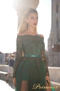 Вечернее платье 8048. Цвет зеленый. Вид 3