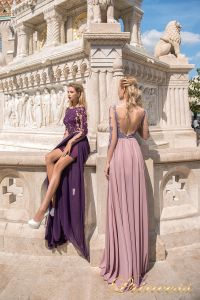 Вечернее платье 8052. Цвет сиреневый. Вид 1