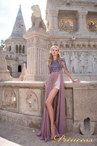 Вечернее платье 8052. Цвет сиреневый. Вид 2