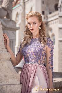 Вечернее платье 8052. Цвет сиреневый. Вид 3