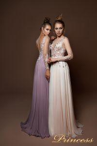 Вечернее платье 9057. Цвет пудра. Вид 1