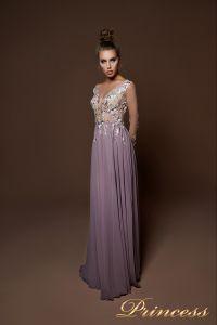 Вечернее платье 9057. Цвет пудра. Вид 2
