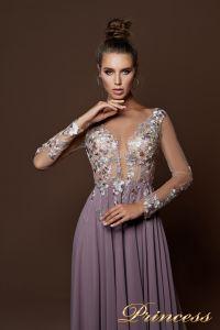 Вечернее платье 9057. Цвет пудра. Вид 3