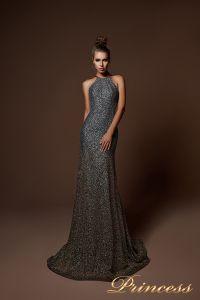 Вечернее платье 9058. Цвет серебро. Вид 3