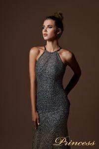 Вечернее платье 9058. Цвет серебро. Вид 4