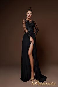 Вечернее платье 8059. Цвет чёрный. Вид 2