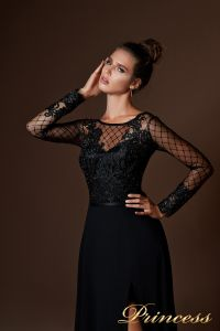 Вечернее платье 8059. Цвет чёрный. Вид 3