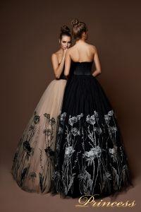Вечернее платье 8060. Цвет бежевый. Вид 2