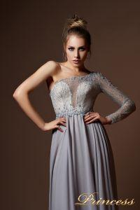 Вечерние платья 9061. Цвет серый. Вид 3