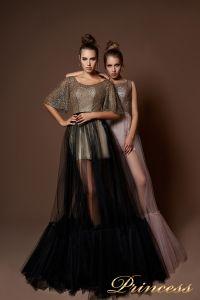 Вечернее платье 8062. Цвет чёрный. Вид 1
