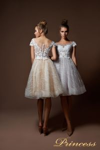 Вечернее платье 9065. Цвет белый. Вид 1