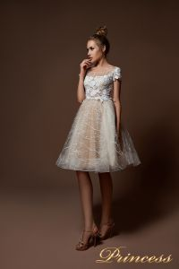Вечернее платье 9065. Цвет белый. Вид 2