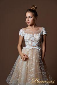 Вечернее платье 9065. Цвет белый. Вид 3
