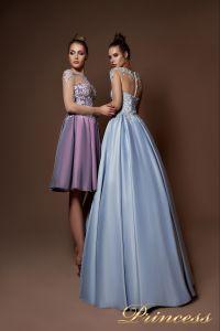 Вечернее платье 9066. Цвет сиреневый. Вид 2