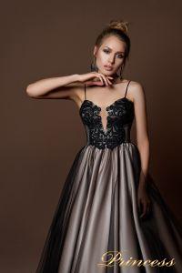 Вечернее платье 8067. Цвет чёрный. Вид 3
