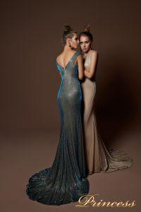 Вечернее платье 9068. Цвет золото. Вид 1