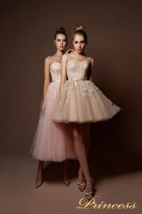 Вечернее платье 9069. Цвет розовый. Вид 1