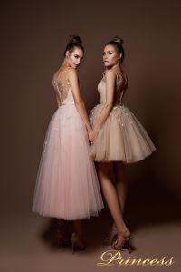 Вечернее платье 9069. Цвет пудра. Вид 2