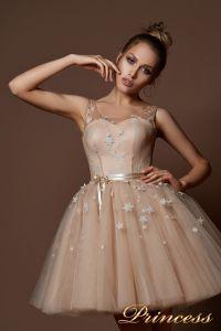 Вечернее платье 9069. Цвет пудра. Вид 3