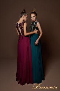 Вечернее платье 9070. Цвет бордовый. Вид 1