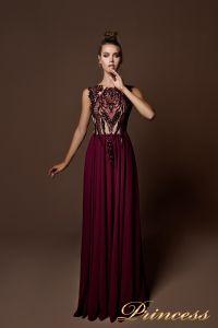 Вечернее платье 9070. Цвет бордовый. Вид 2