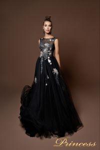 Вечернее платье 9071. Цвет чёрный. Вид 1