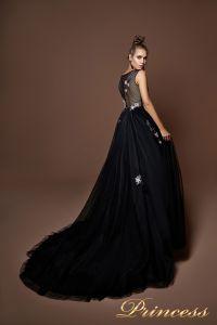 Вечернее платье 9071. Цвет чёрный. Вид 2