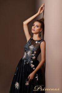Вечернее платье 9071. Цвет чёрный. Вид 3
