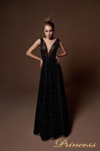 Вечернее платье 9072. Цвет синий. Вид 2
