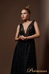 Вечернее платье 9072. Цвет синий. Вид 3