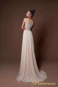 Вечернее платье 9073. Цвет пудра. Вид 2