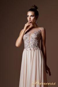 Вечернее платье 9073. Цвет пудра. Вид 3