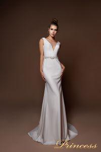 Вечернее платье 9075. Цвет голубой. Вид 2