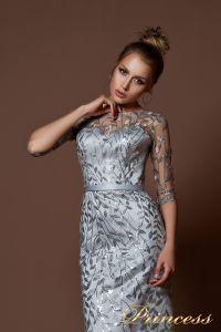 Вечернее платье 9076. Цвет стальной. Вид 3
