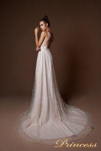 Вечернее платье 9077. Цвет бежевый. Вид 1