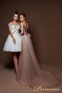 Вечернее платье 9078. Цвет шампань. Вид 2